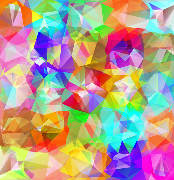 Geometric polygon colorful background vectors 08