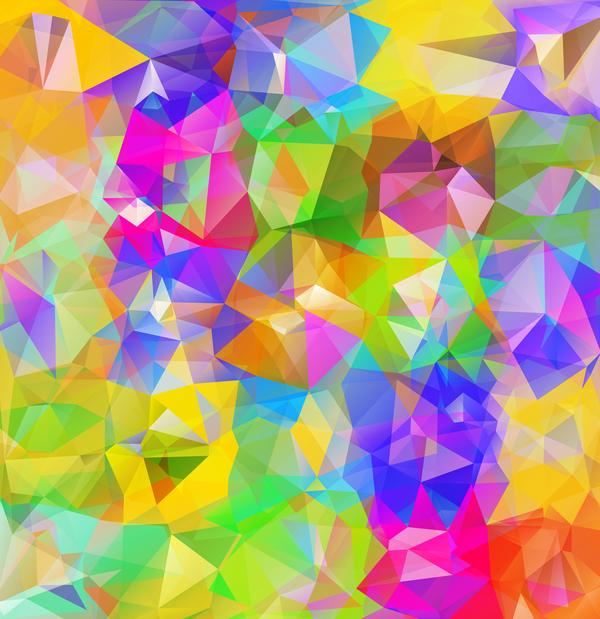 Geometric polygon colorful background vectors 09