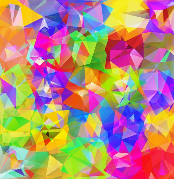 Geometric polygon colorful background vectors 10