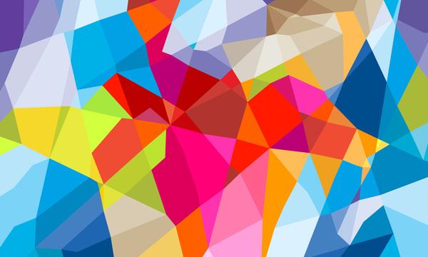Geometric polygon colorful background vectors 11