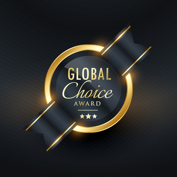 Global choice award badge vector