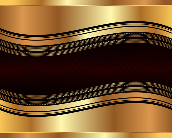 Gold metal with retro background vector
