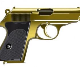 Gold pistol vector material
