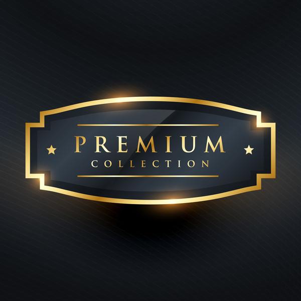 Gold premium labels vector design