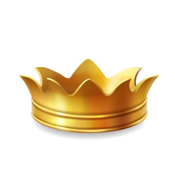 Golden crown vector illustration 01