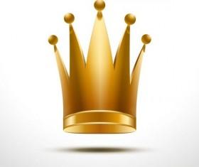 Golden crown vector illustration 02