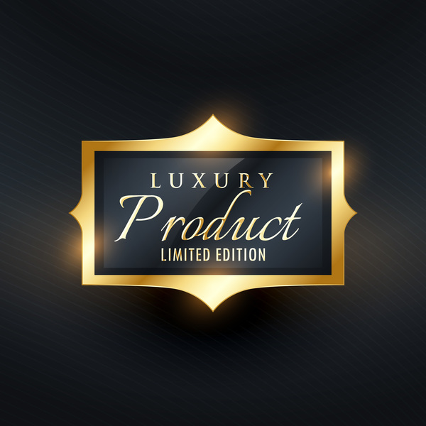 Golden product labels vector design