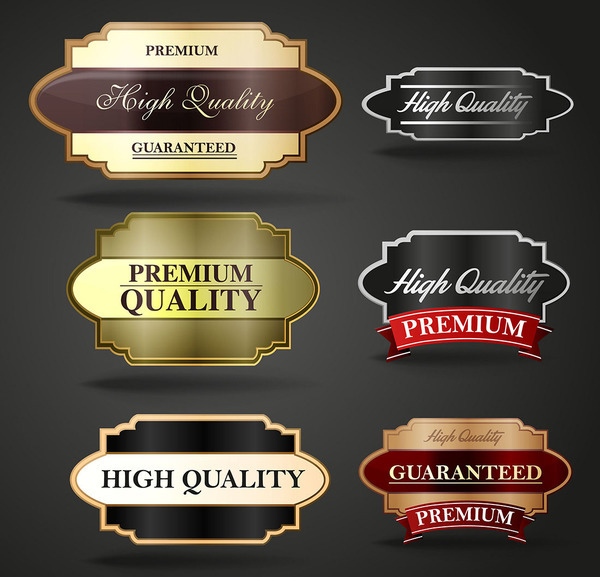 Golden with black labels retor vector