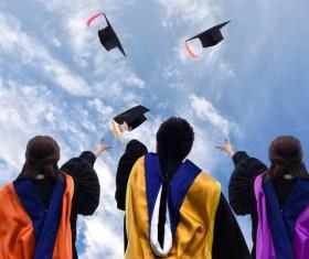 Graduation ceremony to throw a degree cap Stock Photo