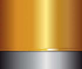 Gray with golden metal background vector