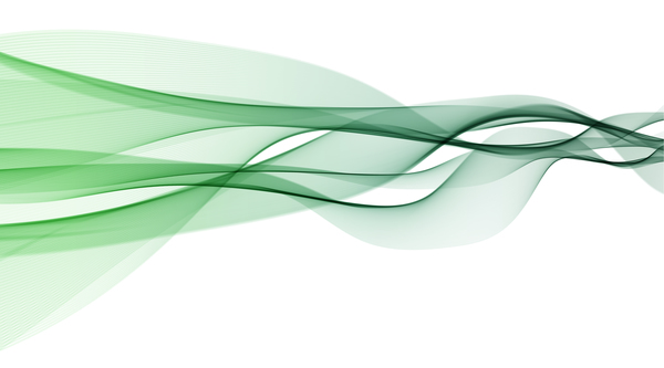 Green abstract wavy lines vector