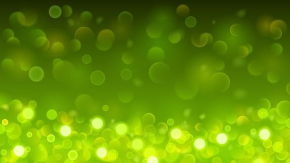 green bokeh effect background vector free download