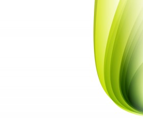 Green wavy lines abstract vectors 01