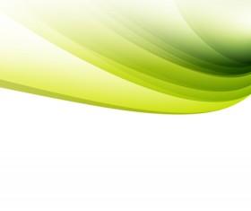 Green wavy lines abstract vectors 02