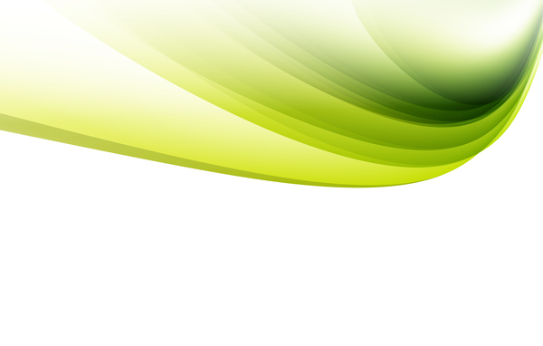 Green wavy lines abstract vectors 02
