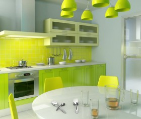 Green with interior design Stock Photo