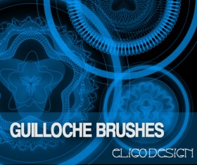 Guilloche photoshop brushes