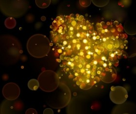 Halation heart with bokeh background vector 01