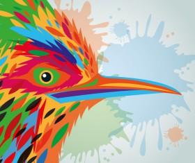 Hand drawn watercolor bird vector