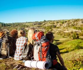 Hiking partners Stock Photo