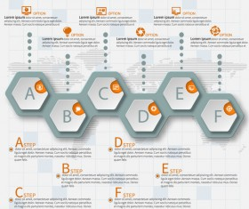 Honeycomb business infographics template vectors set 10