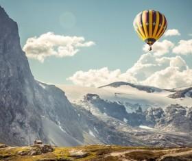 Hot air balloon travel Stock Photo