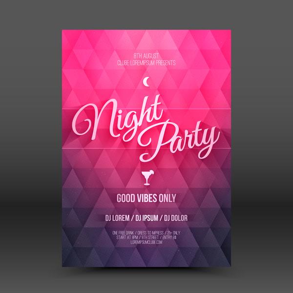 Hot beach party flyer template vector 02