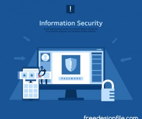 Information security business template vector