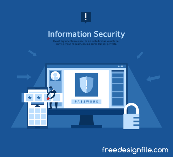 ... template vector download name information security business template