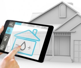 Intelligent home management system Stock Photo 01