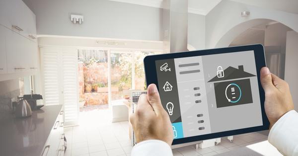Intelligent home management system Stock Photo 06