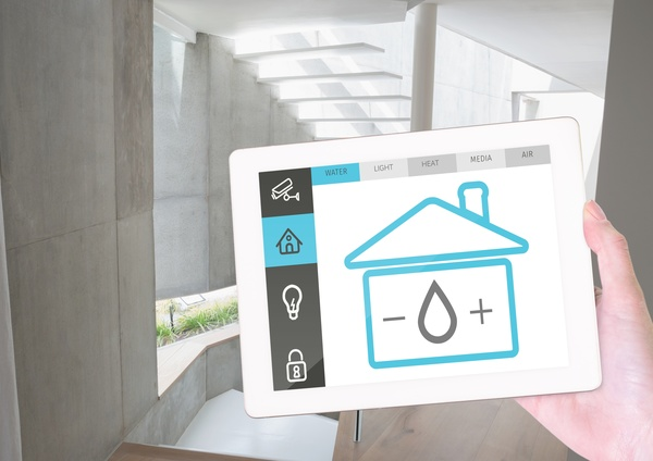 Home security interface on tablet pc