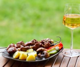 Kebab glass Stock Photo