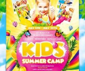 Kids Summer Camp Flyer PSD Template