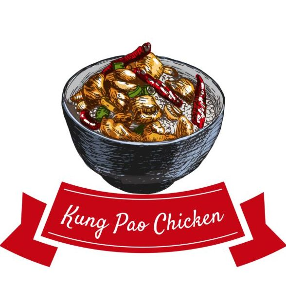 Kung pao chicken vector material