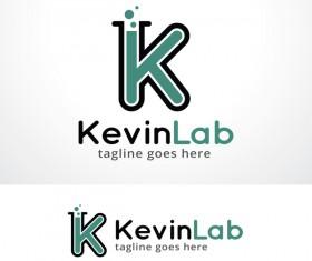Letter K Lab logo vector