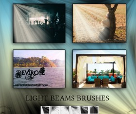 Light Beam photoshop brushes