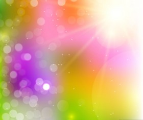 Light effect bokeh with blurred backgrounds vector 04