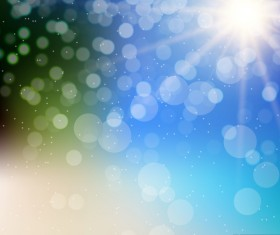 Light effect bokeh with blurred backgrounds vector 05