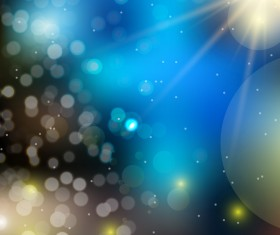 Light effect bokeh with blurred backgrounds vector 08