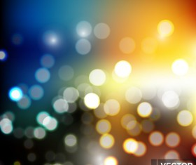 Light effect bokeh with blurred backgrounds vector 09