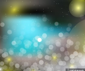 Light effect bokeh with blurred backgrounds vector 10