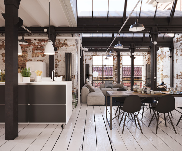 industrial loft apartment industrie loft wohnung free download. Black Bedroom Furniture Sets. Home Design Ideas