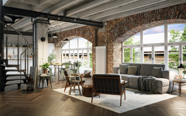 Luxury Industrial Loft Apartment Stock Photo 07 Free Download