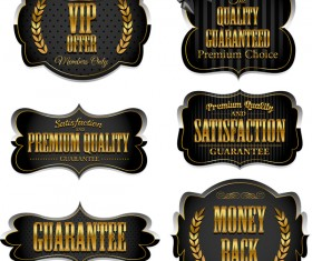 Luxury VIP labels vector material 01