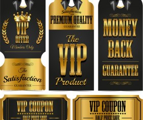 Luxury VIP labels vector material 02