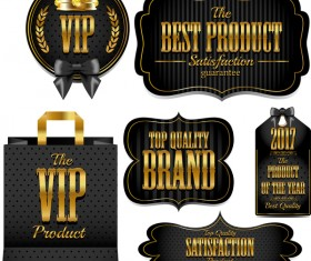 Luxury VIP labels vector material 03
