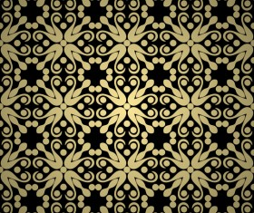 Luxury golden decorative pattern seamless vector 01
