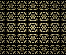Luxury golden decorative pattern seamless vector 02
