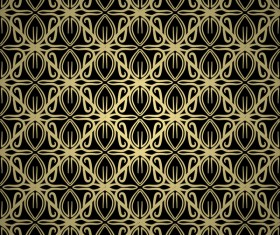 Luxury golden decorative pattern seamless vector 04
